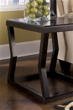 Wood Top End Table with Angled Legs