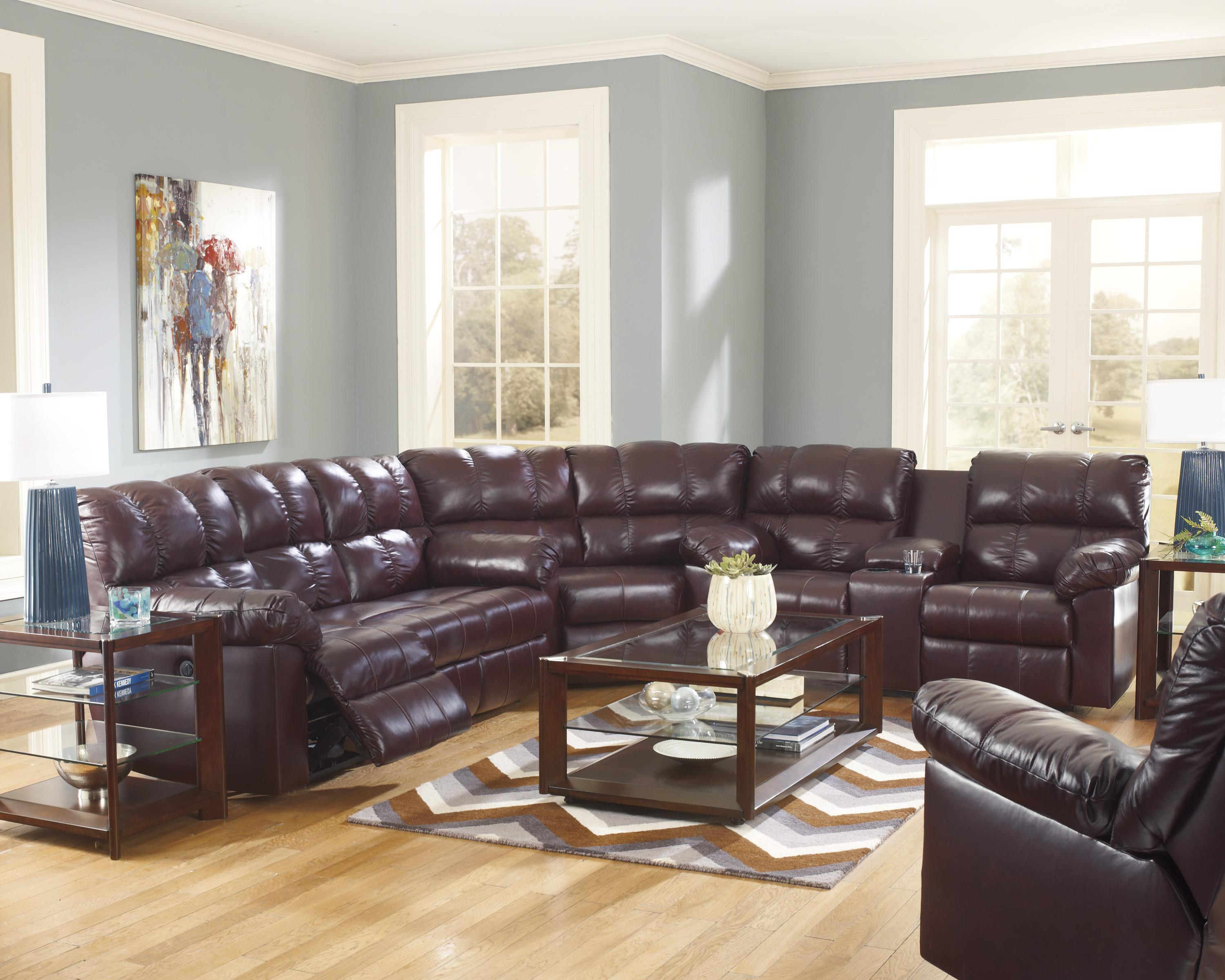 Signature Design by Ashley Kennard - Burgundy Reclining Living Room Group - Item Number: 29000 Living Room Group 1