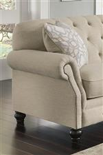 Rolled Arms with Nailhead Trim and Tufted Back