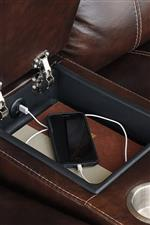 Storage compartment with USB charger