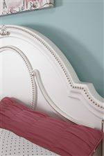 Ornate Panel Headboard with Rose Gold Color Tipped Highlights