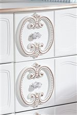 Center Appliques on Dresser