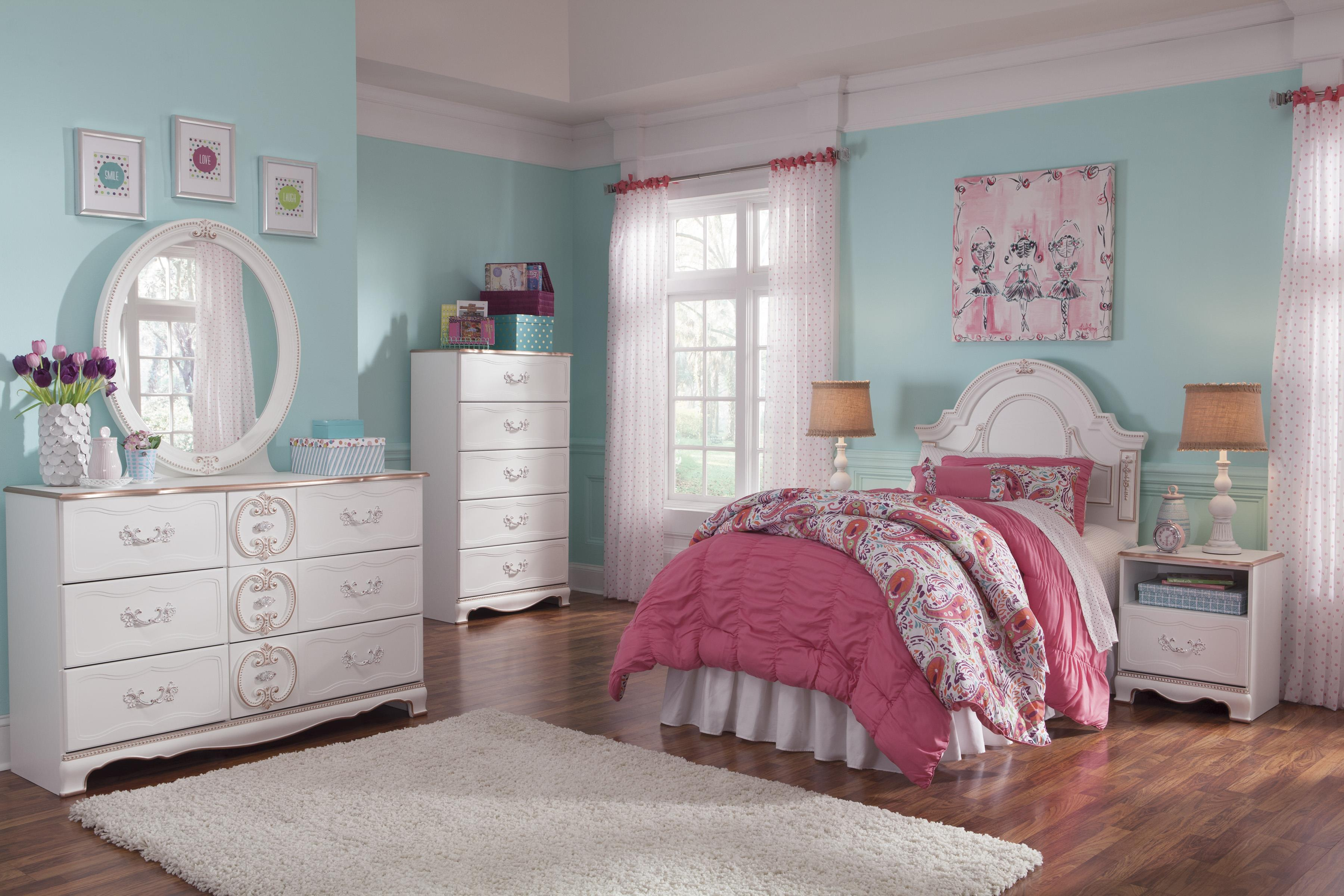 Signature Design by Ashley Korabella Twin Bedroom Group - Item Number: B355 T Bedroom Group 2