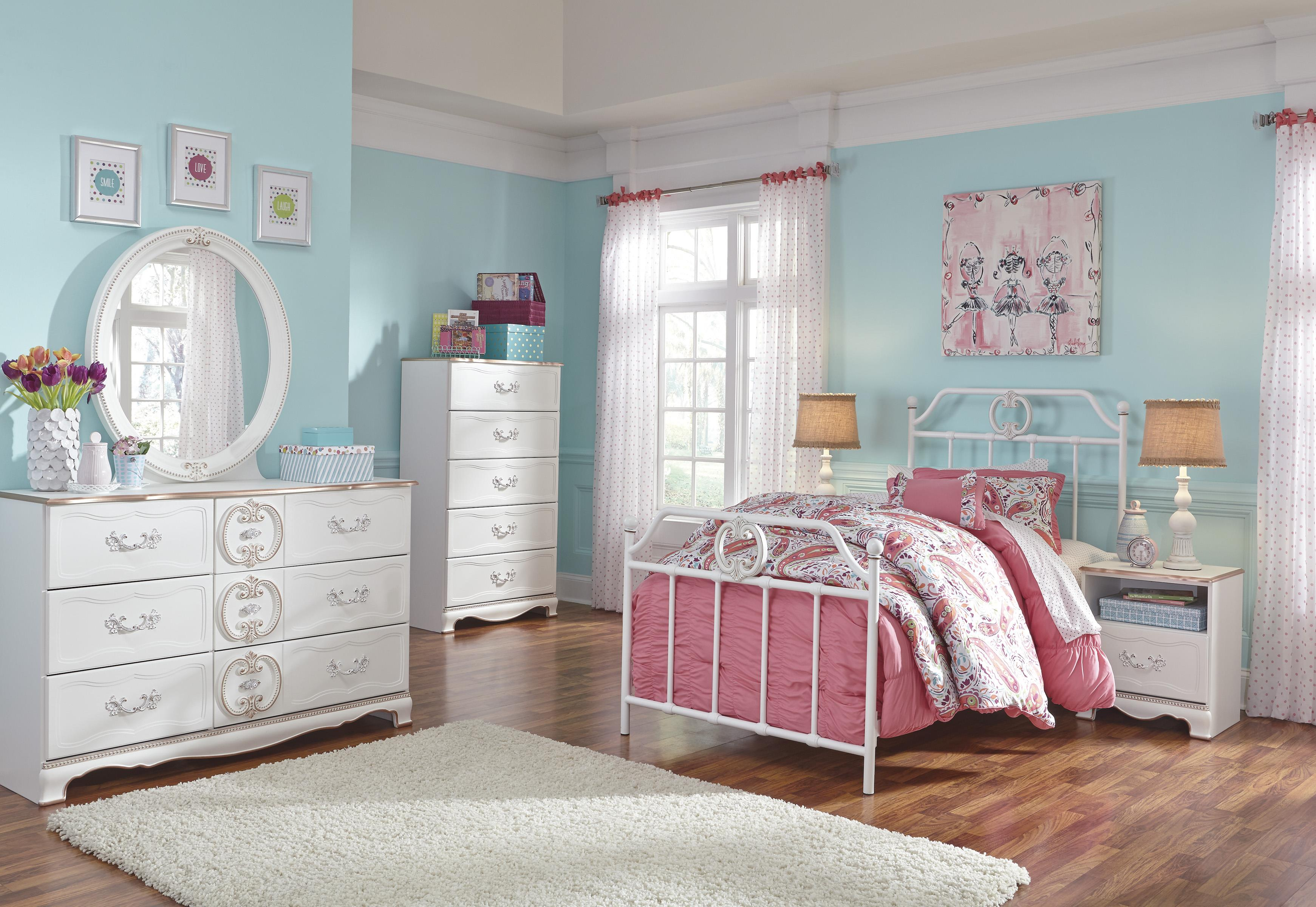 Signature Design by Ashley Korabella Twin Bedroom Group - Item Number: B355 T Bedroom Group 3