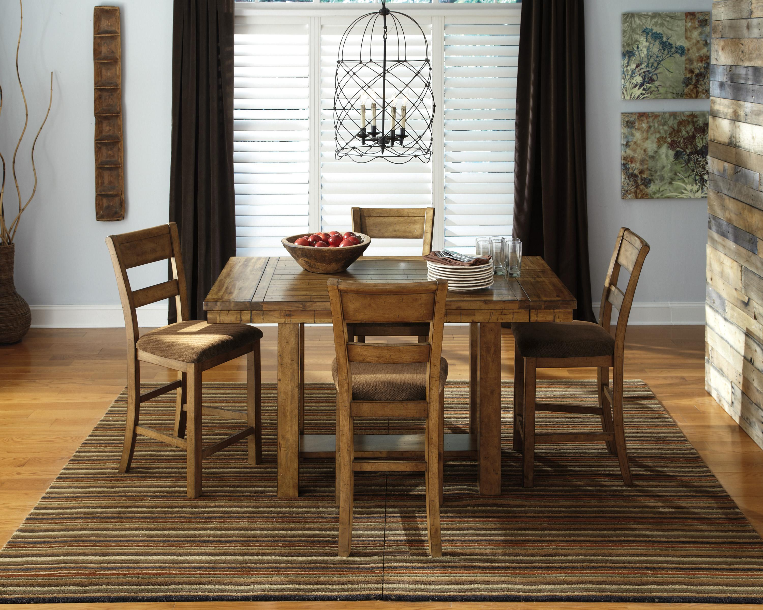 ashley signature design krinden rustic dining room server with