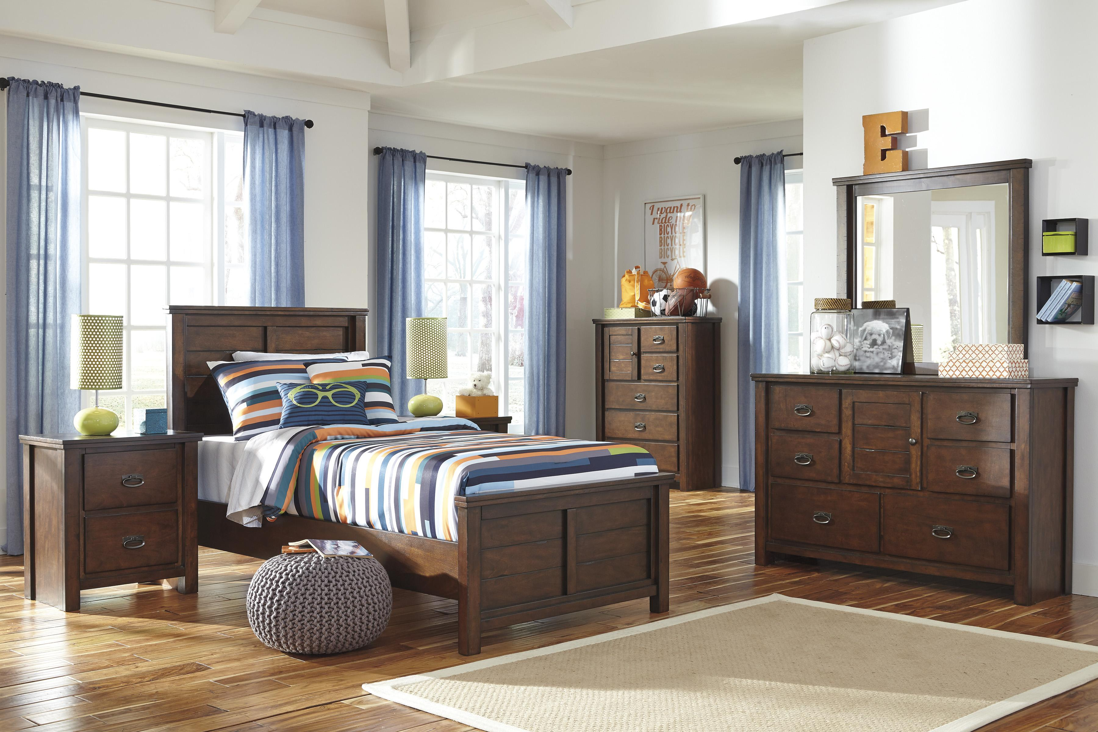 Signature Design by Ashley Ladiville Twin Bedroom Group - Item Number: B567 T Bedroom Group 1