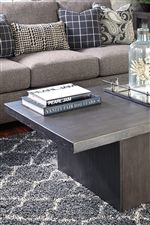 Plinth Style Base on Cocktail Table