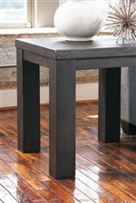 Block Legs on Square End Table