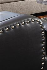 Rounded Track Arms with Nailhead Trim