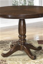 Traditional Solid Wood Turned Pedestal Table Base
