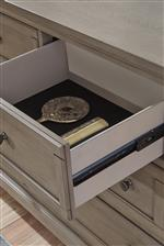 Felt-lined drawers