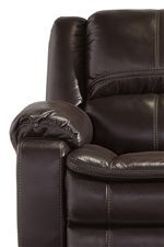 Contoured Seats with Pillow Top Cushioning. Jumbo Stitched Details.