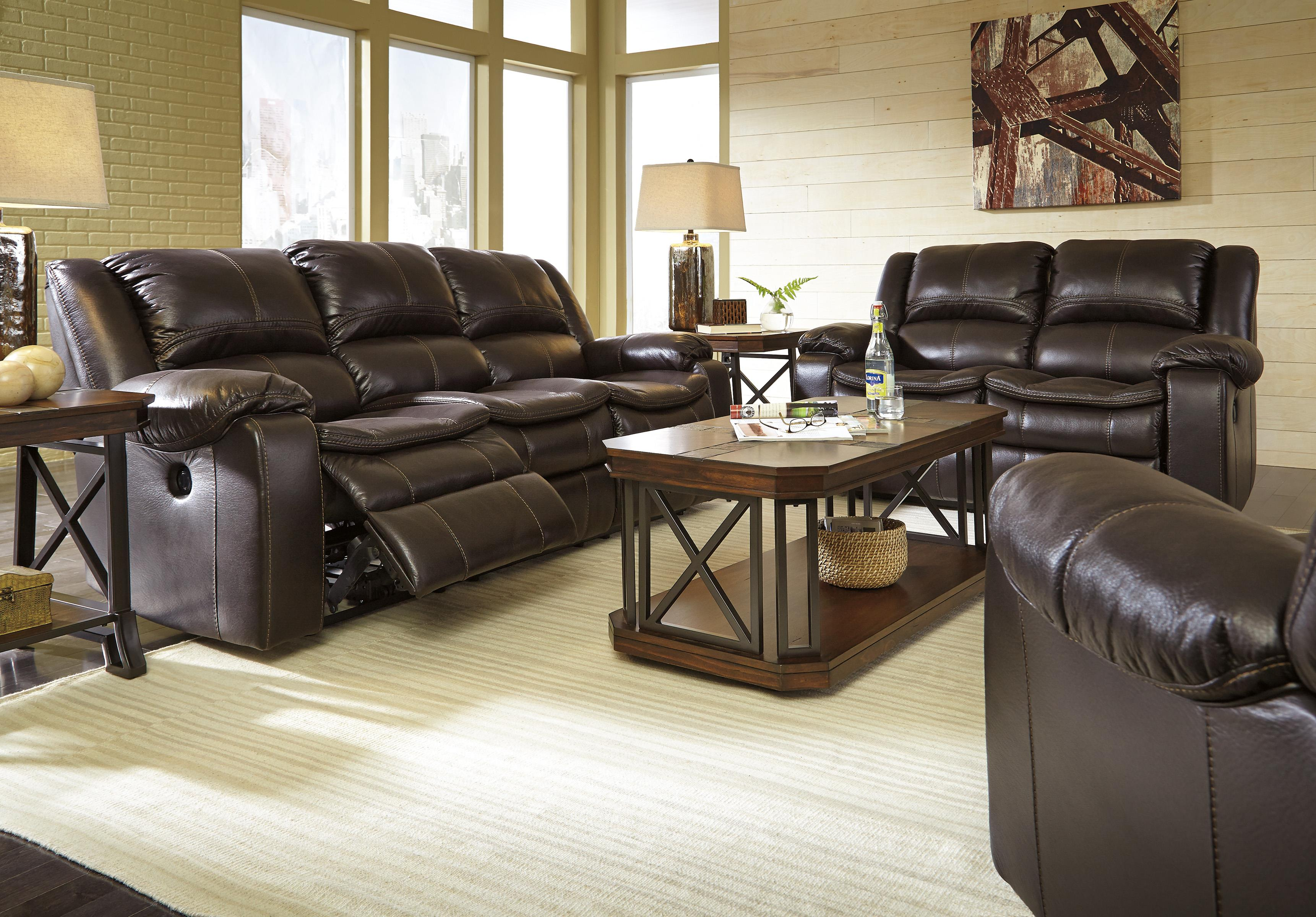 Signature Design by Ashley Long Knight Reclining Living Room Group - Item Number: 88905 Living Room Group 3