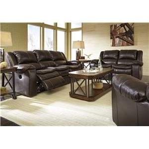Signature Design by Ashley Furniture Long Knight Reclining Living Room Group