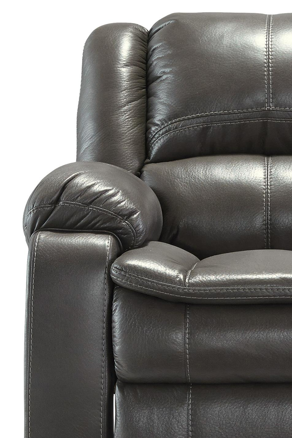 Signature Design by Ashley Long Knight Faux Leather Reclining Sofa ...