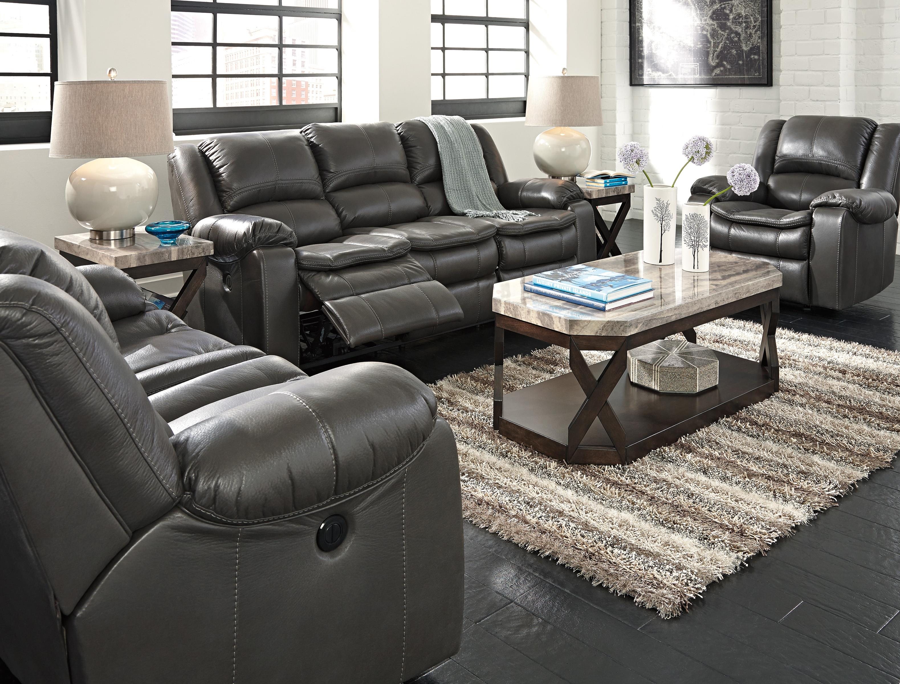 Ashley Signature Design Reclining Sofa Baci Living Room