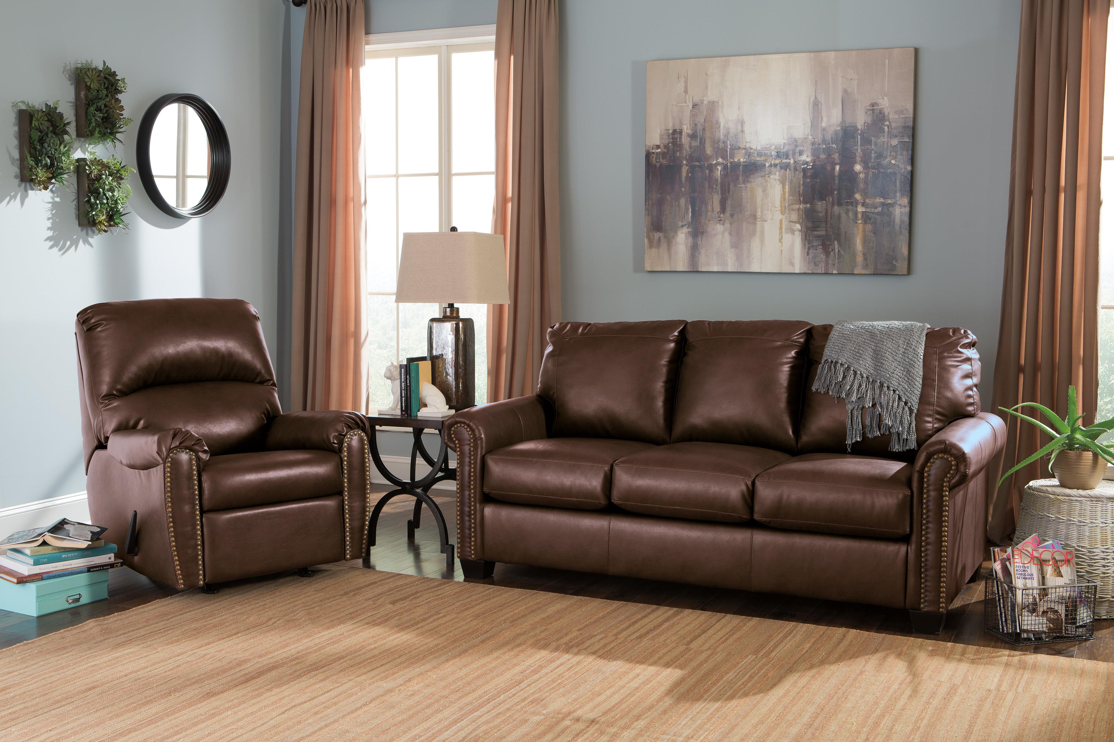 Signature Design by Ashley Lottie DuraBlend® Stationary Living Room Group - Item Number: 38000 Living Room Group 1