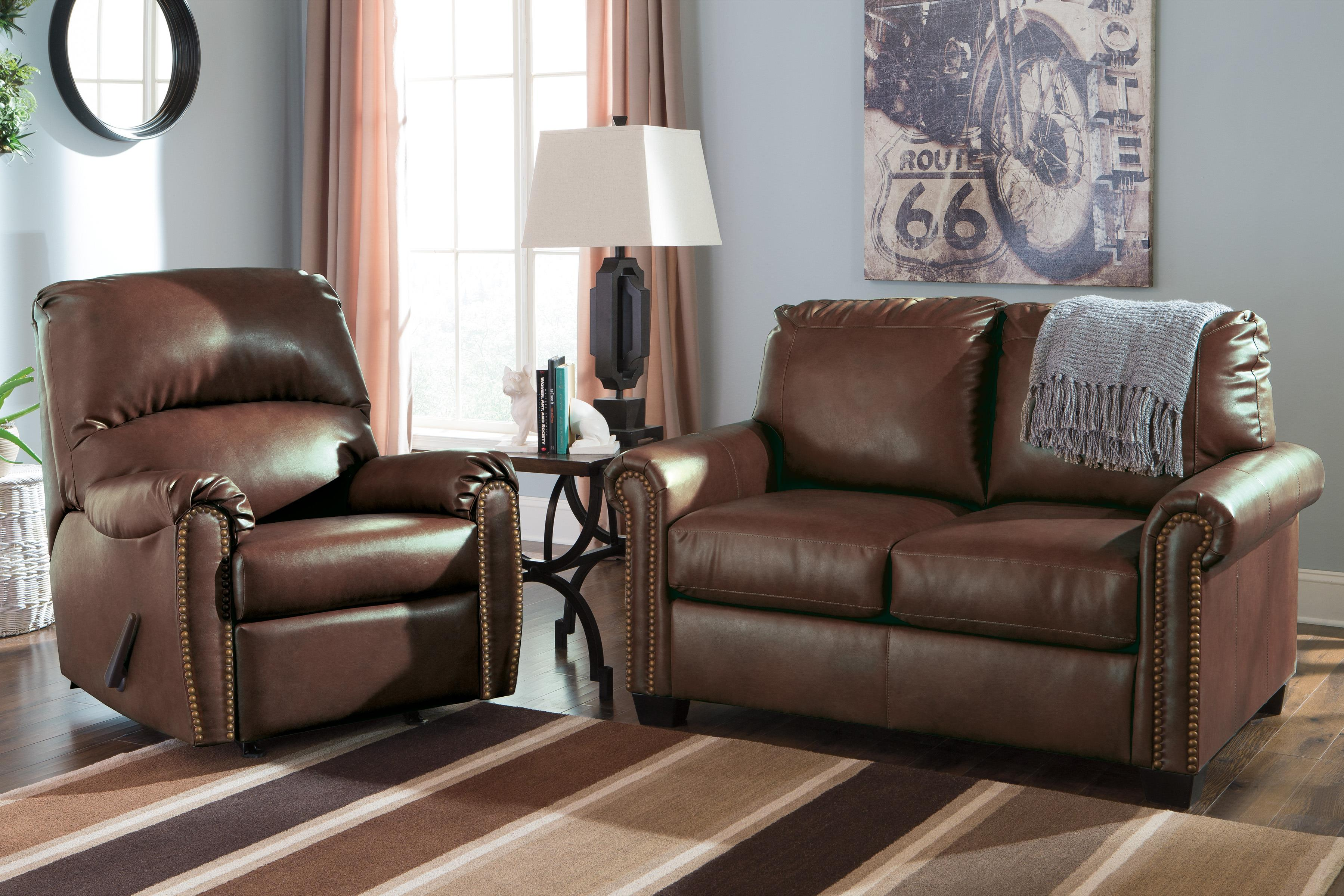 Signature Design by Ashley Lottie DuraBlend® Transitional Bonded Leather Match Rocker Recliner with Nailhead Trim - Wayside Furniture - Three Way Recliner & Signature Design by Ashley Lottie DuraBlend® Transitional Bonded ... islam-shia.org