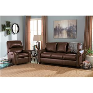 Signature Design by Ashley Lottie DuraBlend® Transitional Bonded Leather Match 78