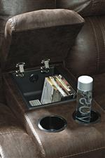 Console with Cup Holders, Storage, and USB Charging