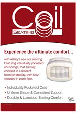 Coil Seating - Seat Cushions with Individually Pocketed Coil Springs for Superior Shape and Comfort