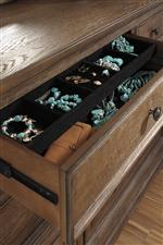 Dresser with Felt Lined Jewelry Tray