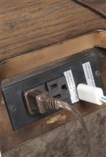 Electrical Outlets and USB Chargers Built Into Back of Night Stand