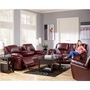 Signature Design by Ashley Magician DuraBlend - Garnet Rocker Recliner with Padded Pillow Arms