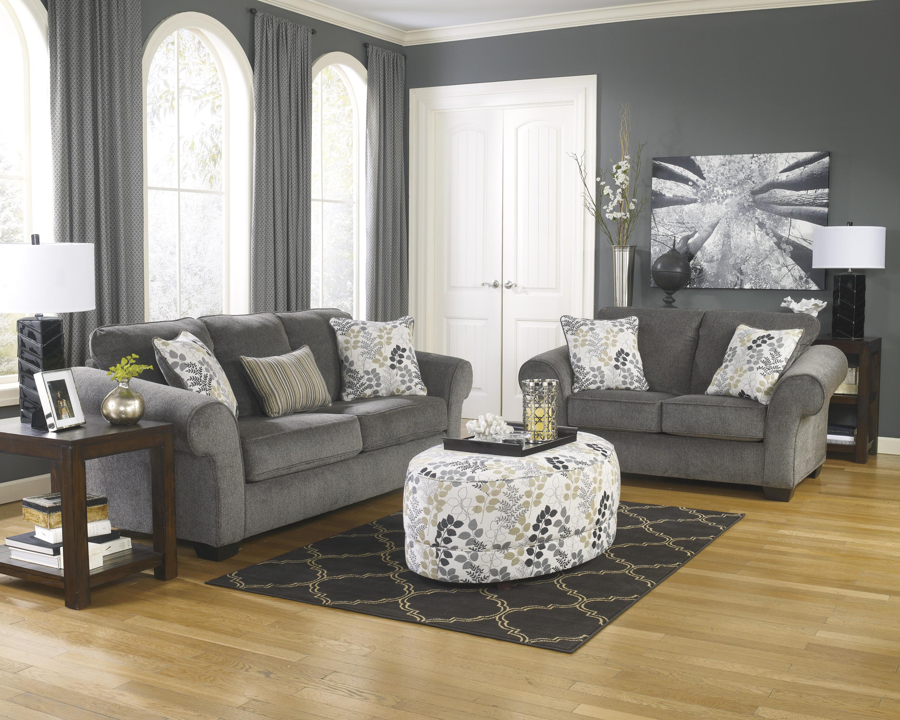 Signature Design by Ashley Makonnen - Charcoal Stationary Living Room Group - Item Number: 78000 Living Room Group 5