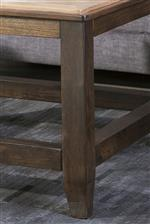 Solid Wood Table Legs in Dark Brown Finish