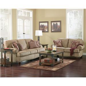Ashley (Signature Design) Martin Court - Caramel Stationary Living Room Group