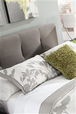 Channel Tufted Upholstered Headboard with Twill Fabric