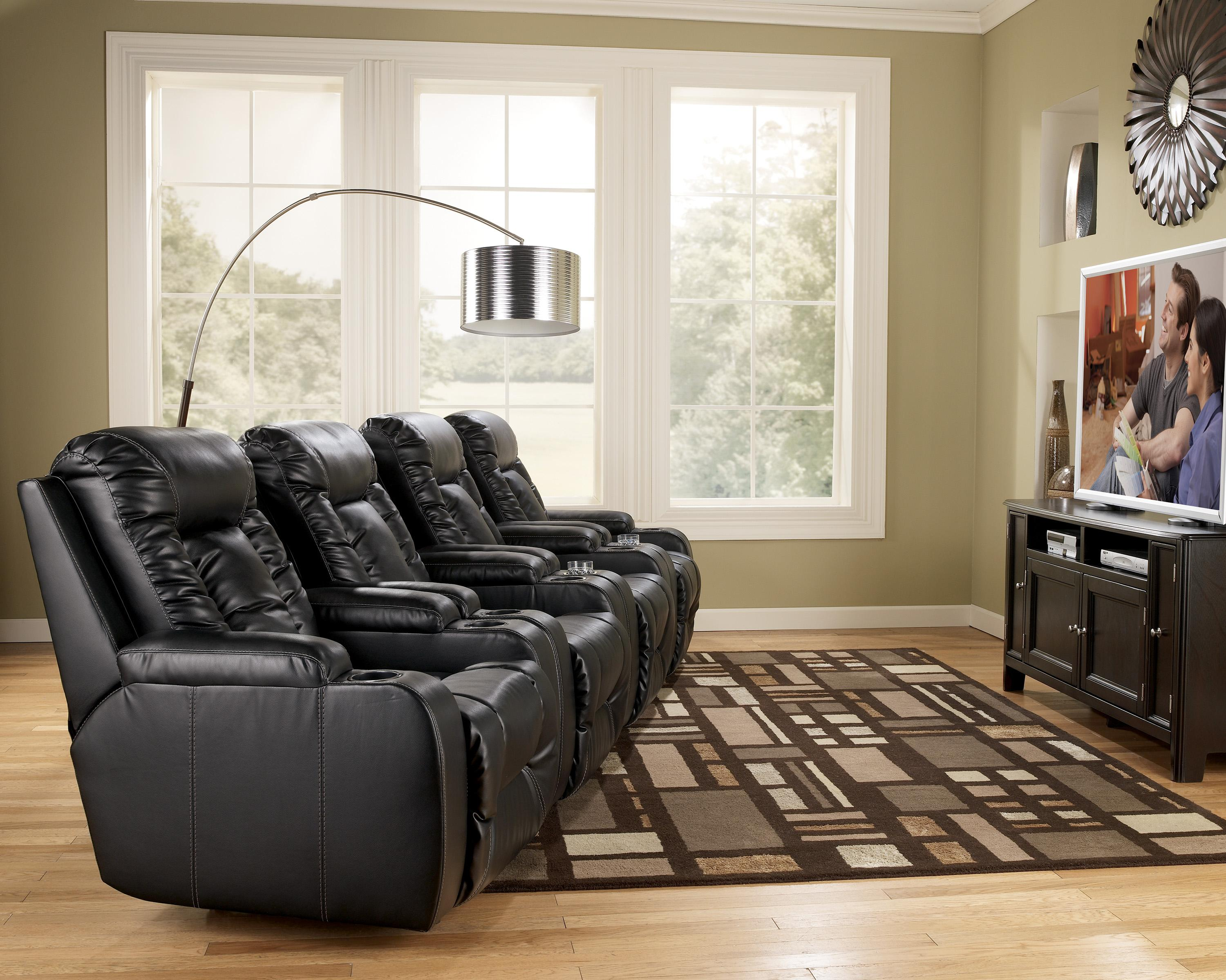 Elegant Signature Design By Ashley Matinee DuraBlend®   Eclipse 4 Piece Theater  Seating Group | Northeast Factory Direct | Theater Seating Cleveland,  Eastlake, ...