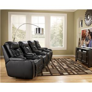 Signature Design by Ashley Matinee DuraBlend® - Eclipse Contemporary 3 Piece Theater Seating Group with Power Recline