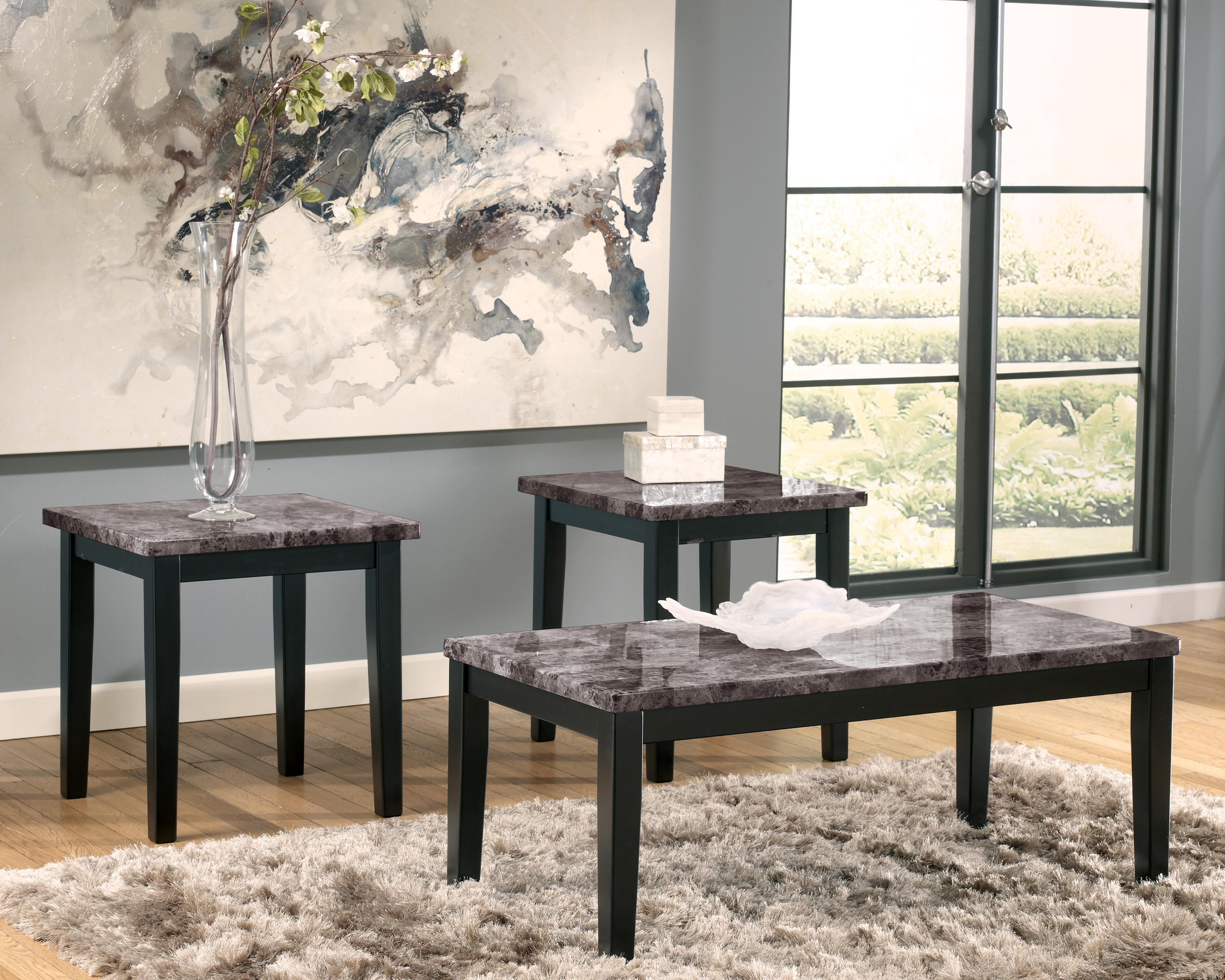 Ashley Signature Design Maysville Faux Marble Top 3 Piece