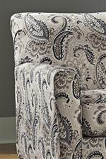 Paisley Fabric on Accent Chair