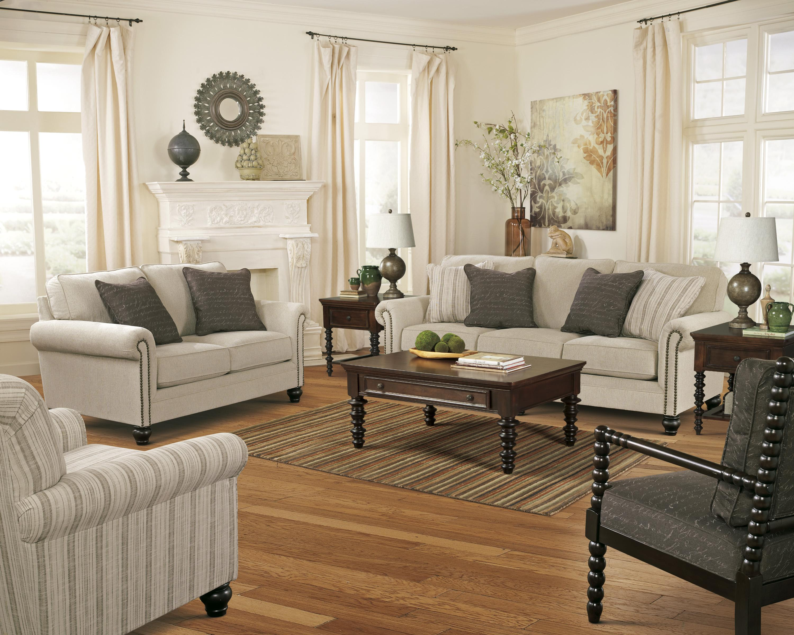 Signature Design by Ashley Milari - Linen Stationary Living Room Group - Item Number: 13000 Living Room Group 3