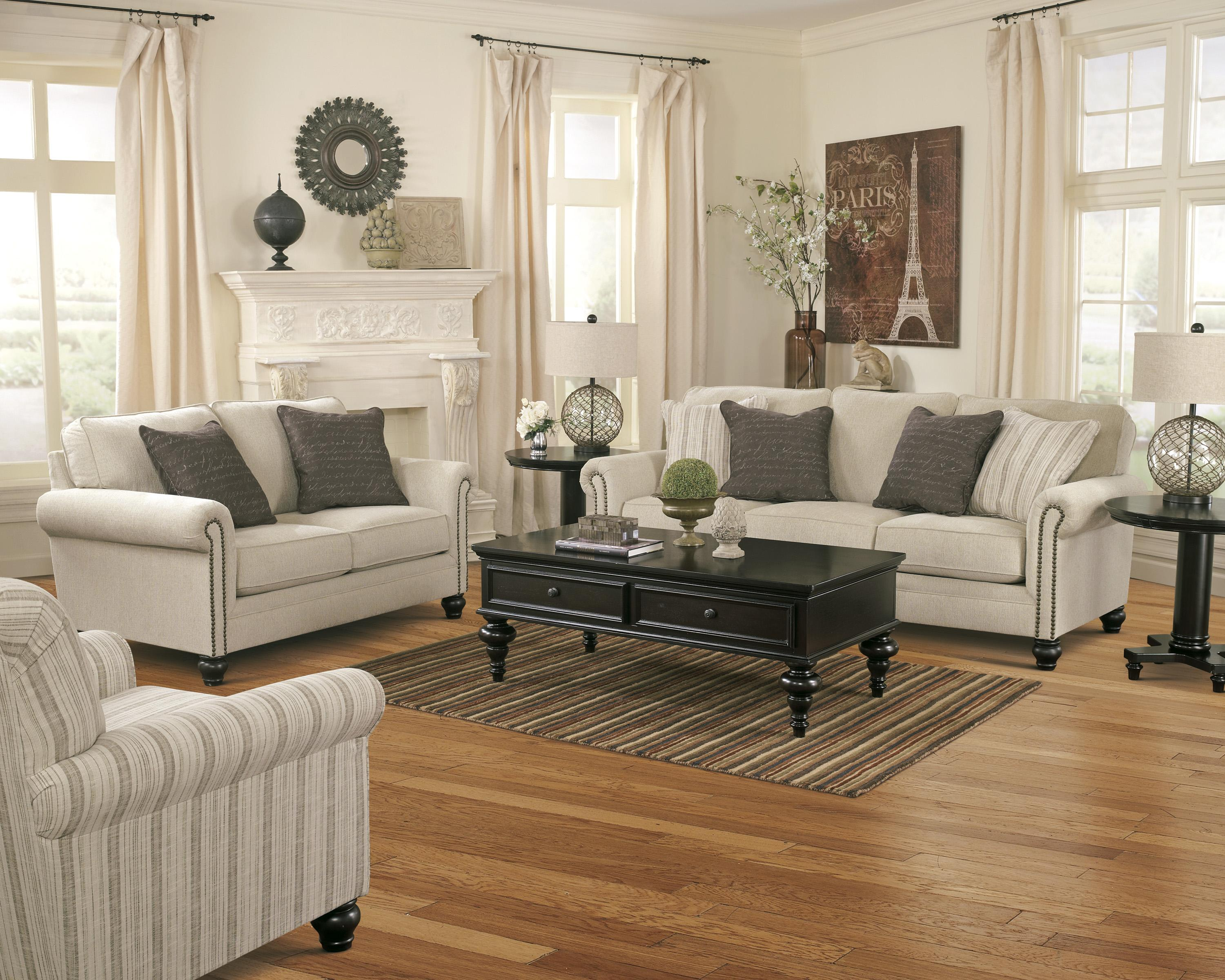 Signature Design by Ashley Milari - Linen Stationary Living Room Group - Item Number: 13000 Living Room Group 4