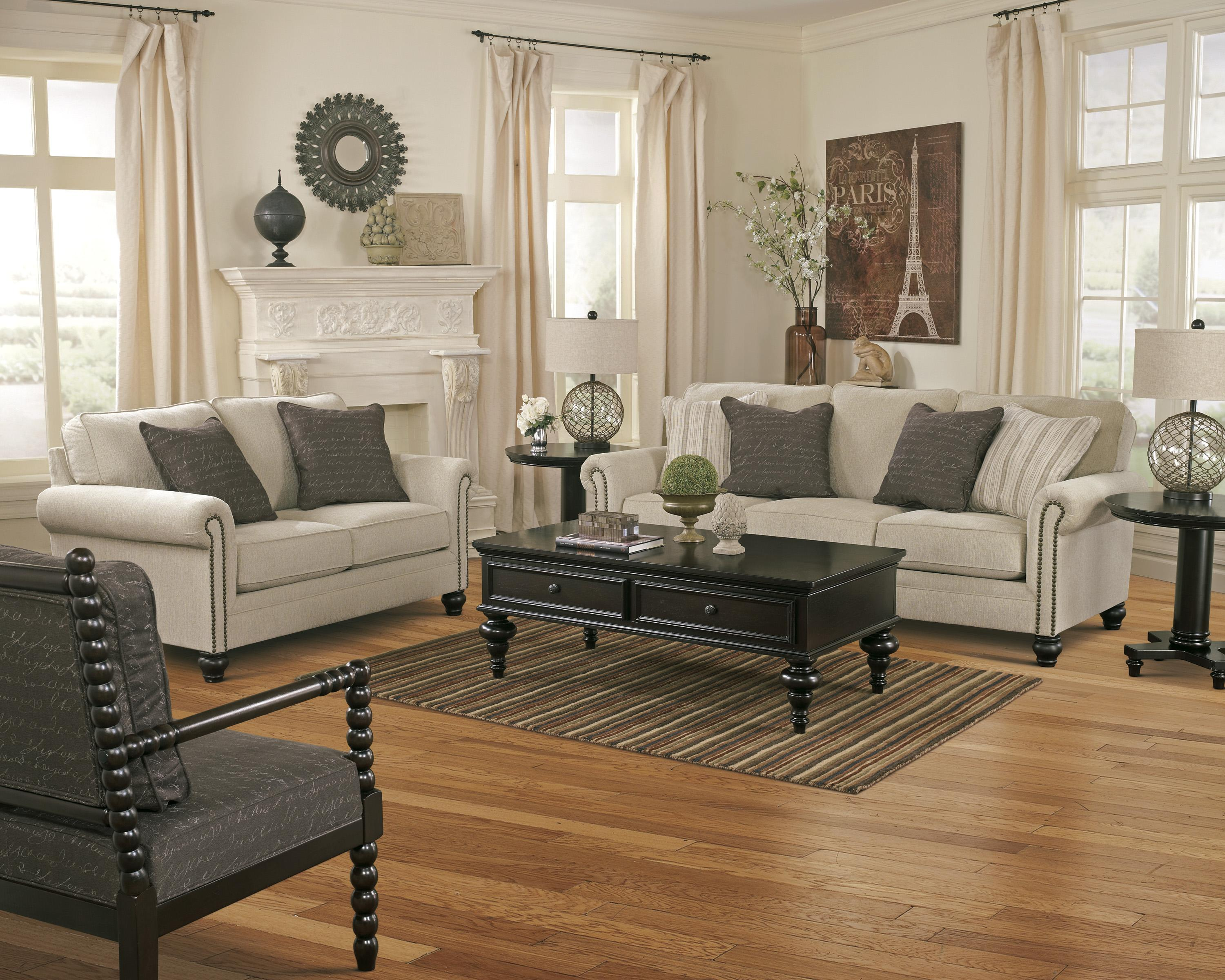 Signature Design by Ashley Milari - Linen Stationary Living Room Group - Item Number: 13000 Living Room Group 5