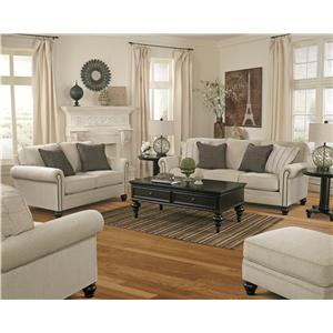 Ashley (Signature Design) Milari - Linen Stationary Living Room Group