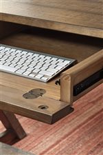 Drawer with Drop Down Front on Desk