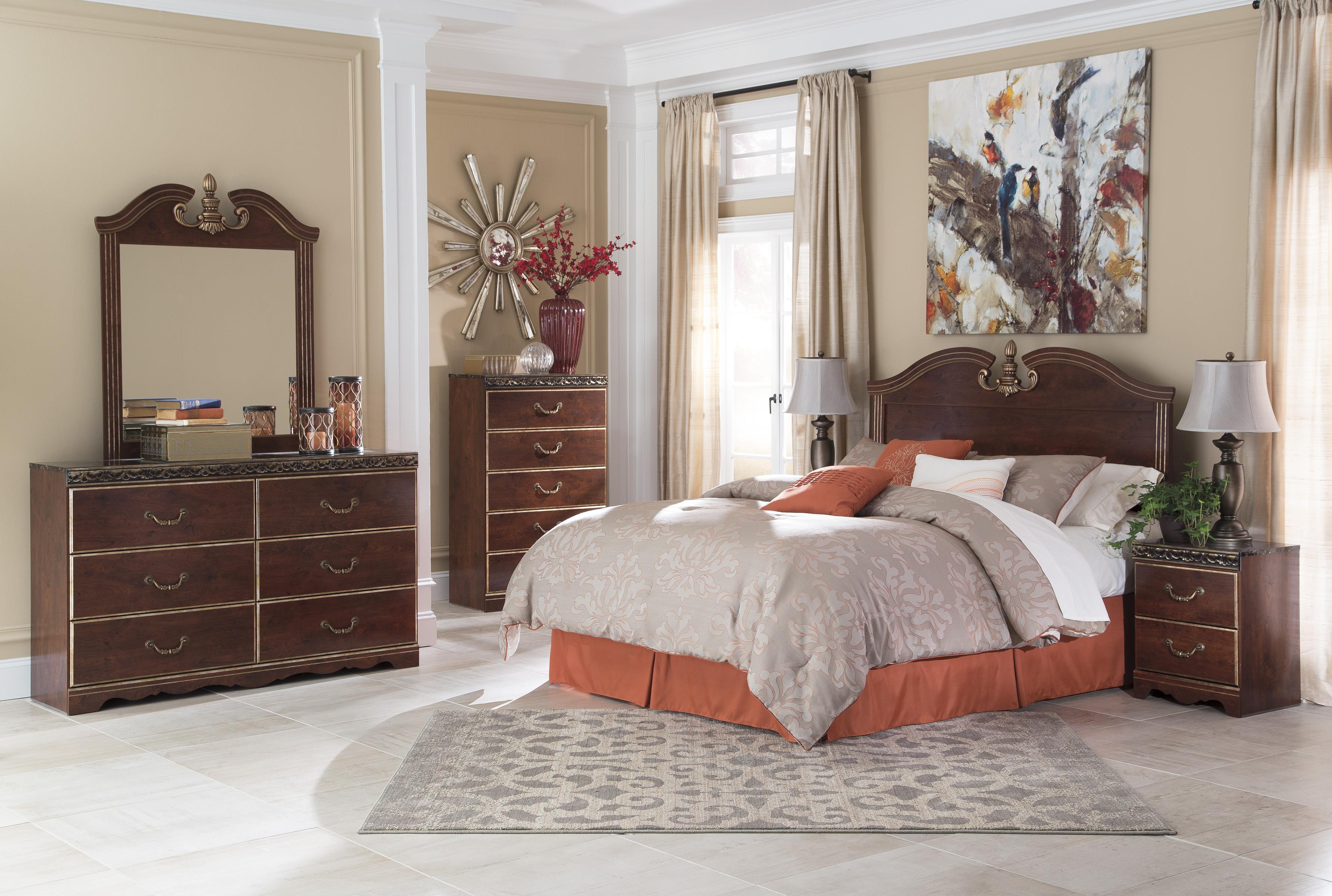 Signature Design by Ashley Naralyn Queen/Full Bedroom Group - Item Number: B164 Q Bedroom Group 2