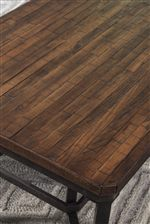 Reclaimed Wood Block Table Top