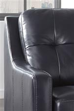 Sloping Track Arms and Buttonless Tufted Back