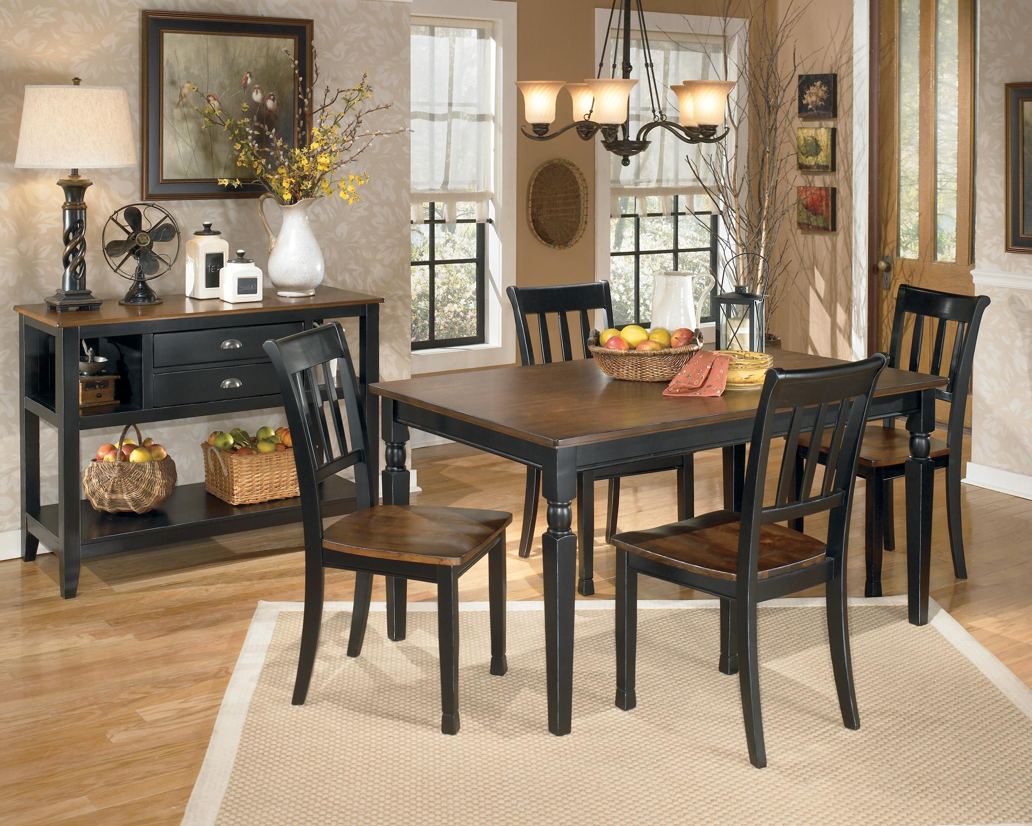 Ashley Furniture Kitchen Table Sets Signature Design By Ashley Owingsville 7 Piece Rectangular Dining