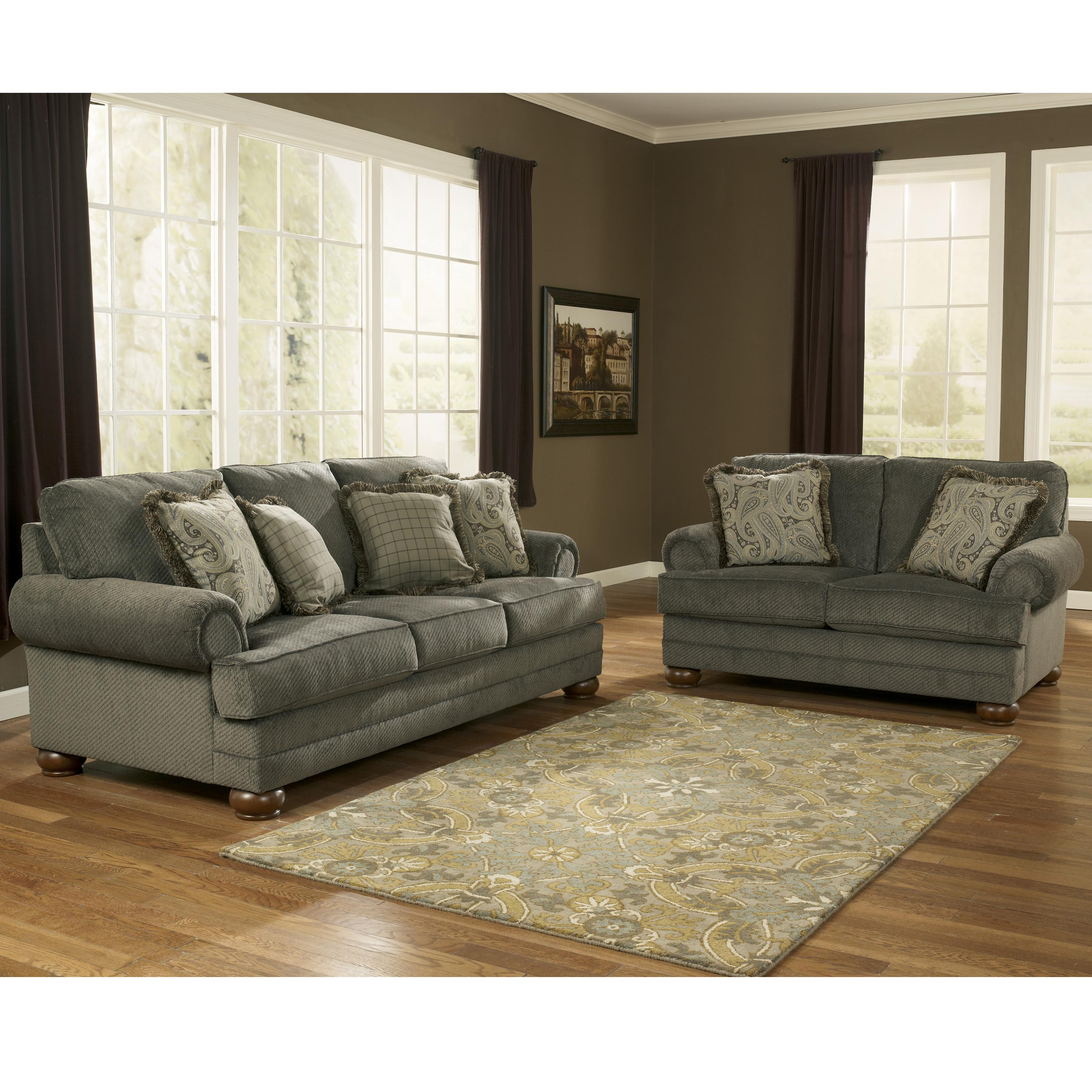Signature Design by Ashley Parcal Estates - Basil Stationary Living Room Group - Item Number: 74005 Living Room Group 1
