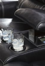 Lift Top Center Storage Console with Beverage Holders
