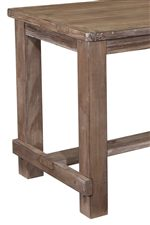 Rustic Style with Table with Block Legs and Stretcher