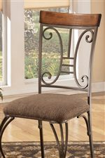 Transitional Harp Design on Chair Back
