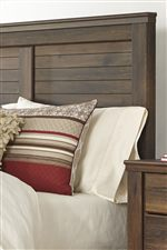 Panel Headboard with Slat Look Details